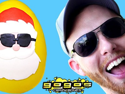 Playdo Santa Claus Surprise Egg Inside Out. Monster High. Shopkins. Crazy Go Go Bones