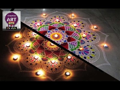Rangoli for special occasion  | diwali special | Art with Creativity