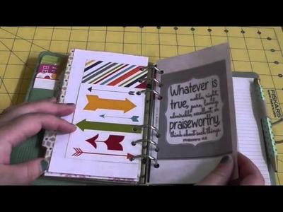 Setup of Filofax Personal Swift as Inspiration.Creativity Journal