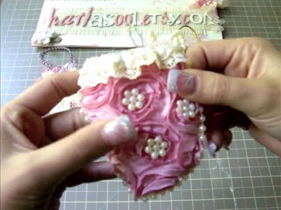 Shabby Chic Christmas Mittens Ornaments