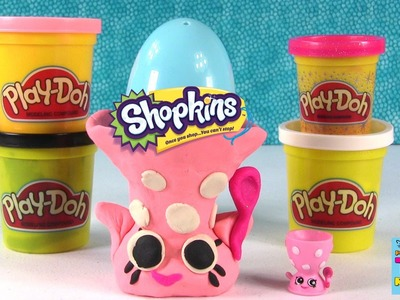 Shopkins Season 4 Play-Doh Challenge | Let's Build Edgar Egg Cup | PSToyReviews