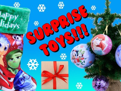 SURPRISE CHRISTMAS STOCKINGS Disney INSIDE OUT Stocking & Surprise Toys Ornaments DisneyCarToys