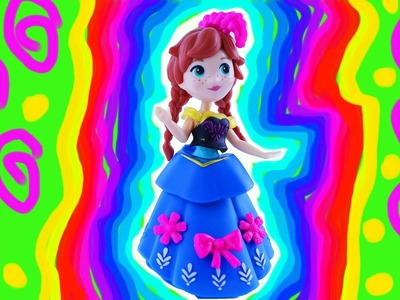 Disney Frozen Princess Anna Statue Painting DIY 2017 Olaf Elsa Sven Kristoff. Toy fun! Learn Colors.