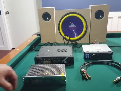DIY - Hooking up a Car Stereo, amp & subwoofer in house