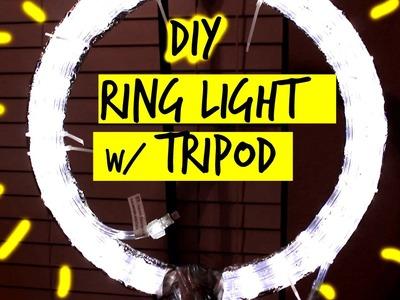 HOW TO: DIY RING LIGHT W. TRIPOD