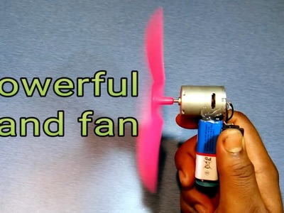 How to make a powerful hand fan at home VERY EASY