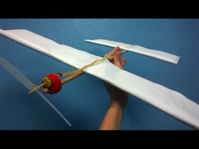 How to make a Rubber Band Airplane.(Easy Rubber Band Airplane)