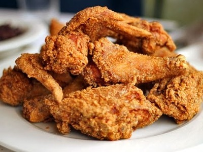 How to  make fried chicken easy cook at home cambodian : how to fry fried chicken wings # 01