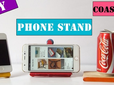 How to make phone stand & drink coaster using popsicle sticks