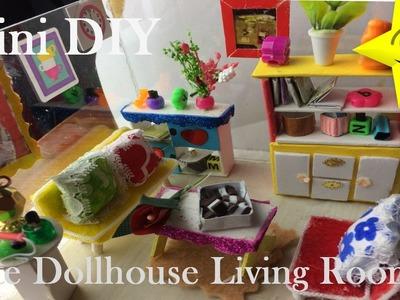 Mini DIY DollHouse Cute Miniature Kit.Glass Livingroom