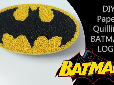 Ruchi's art | DIY | how to make a cool Batman logo using quilling paper strips |