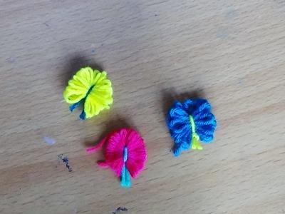 Woolen crafts  - Woolen Art -   How to make beautiful butterflies