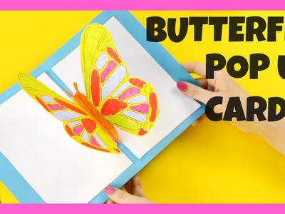 3D Butterfly Pop Up Card Craft - butterfly craft idea