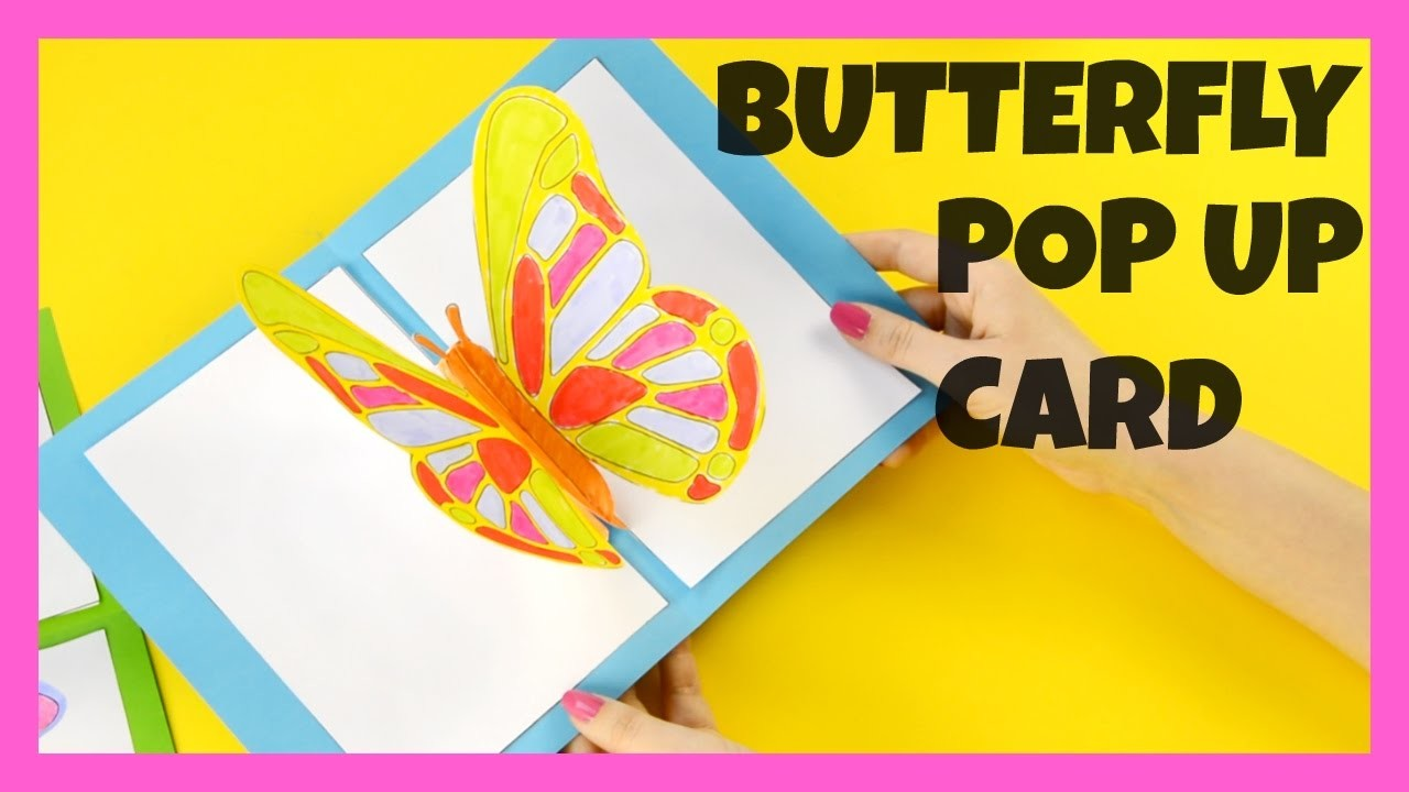 3d butterfly pop up card craft butterfly craft idea my for Pop up card craft