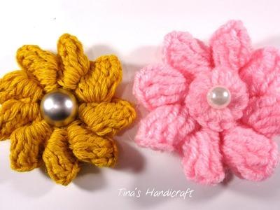 3D crochet flower No 15