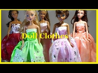 4 DIY | Barbie Doll Clothes | Thrift Store - Hand Made!