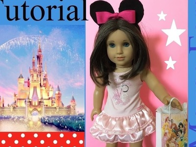 American Girl Doll Disney MOUSE EARS Tutorial DIY How to craft ideas