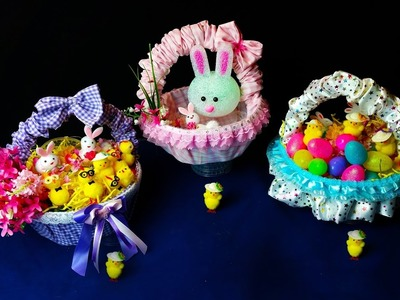 Beautiful Easter Hunt Baskets .  Very Easy to Make .  Easy Diy