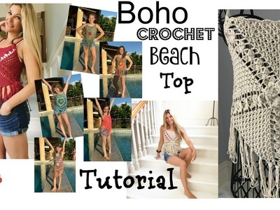 Boho.Festival  Crochet Beach  top Tutorial
