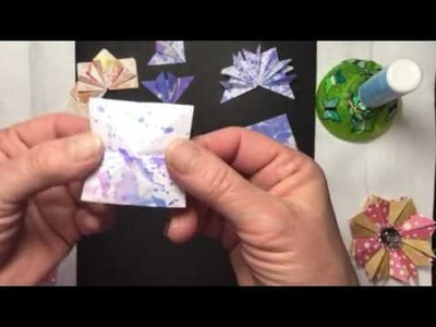 Build Your Stash and Craft,  supplement video 8, folded flowers :)