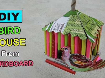 Cardboard Craft - Bird House DIY | Crafts ideas