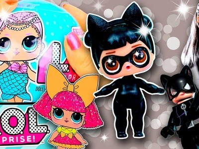 CATWOMAN LOL Surprise Custom Doll DIY | Toy Tutorial | Lil Outrageous Littles