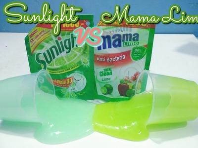 CLEAR SUNLIGHT VS CLEAR MAMA LIME SLIME!? - CLEAR SLIME - DIY SUNLIGHT SLIME