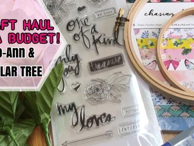 Craft Haul on a Budget.Jo-Ann's & Dollar Tree | I'm A Cool Mom