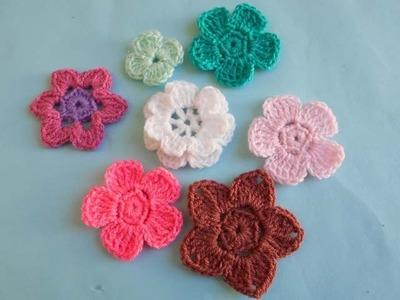 (Crochet-crosia) how to crochet two layer flower