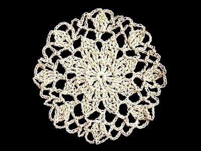 Crochet Round Motif - Star Mini Doily Pattern