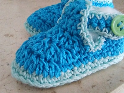 CROCHET T-BAR BABY SHOES easy tutorial all sizes