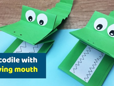 Crocodile with MOVING mouth FUN craft for kids