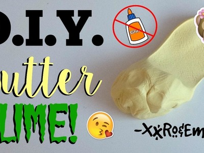 D.I.Y. Butter Slime! No Glue, Borax, Detergent, Pudding Powder, or Cornstarch!
