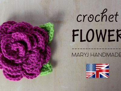 Decorative crochet flower | Tutorial in English