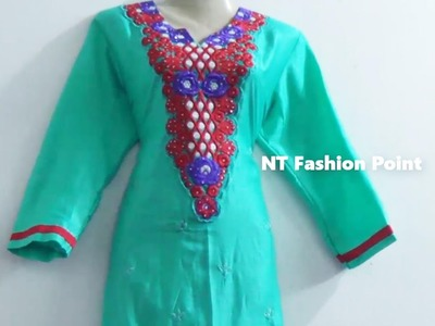 How, Designs kameez- kurti measurement, cutting & stitching