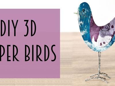 DIY 3D Paper Birds
