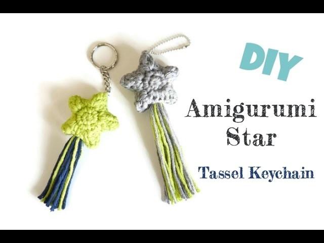 Tutorial Estrella Amigurumi Star : DIY Amigurumi Crochet Star Keychain with Tassel Tutorial ...