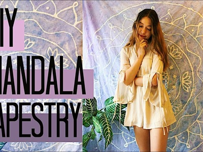 DIY Batik Mandala Tapestry - $5 ROOM DECOR! Urban Outfitters + Pinterest Inspired | Natasha Rose