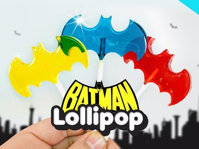 DIY BATMAN Lollipops Candy ! How To Make Colors Superhero BATMAN Candy Pops - Bat Chupa Chups