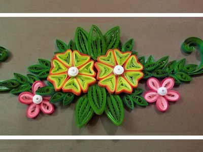 DIY - Beautiful Quilled Flower Design ???? | Paper Quilling Art