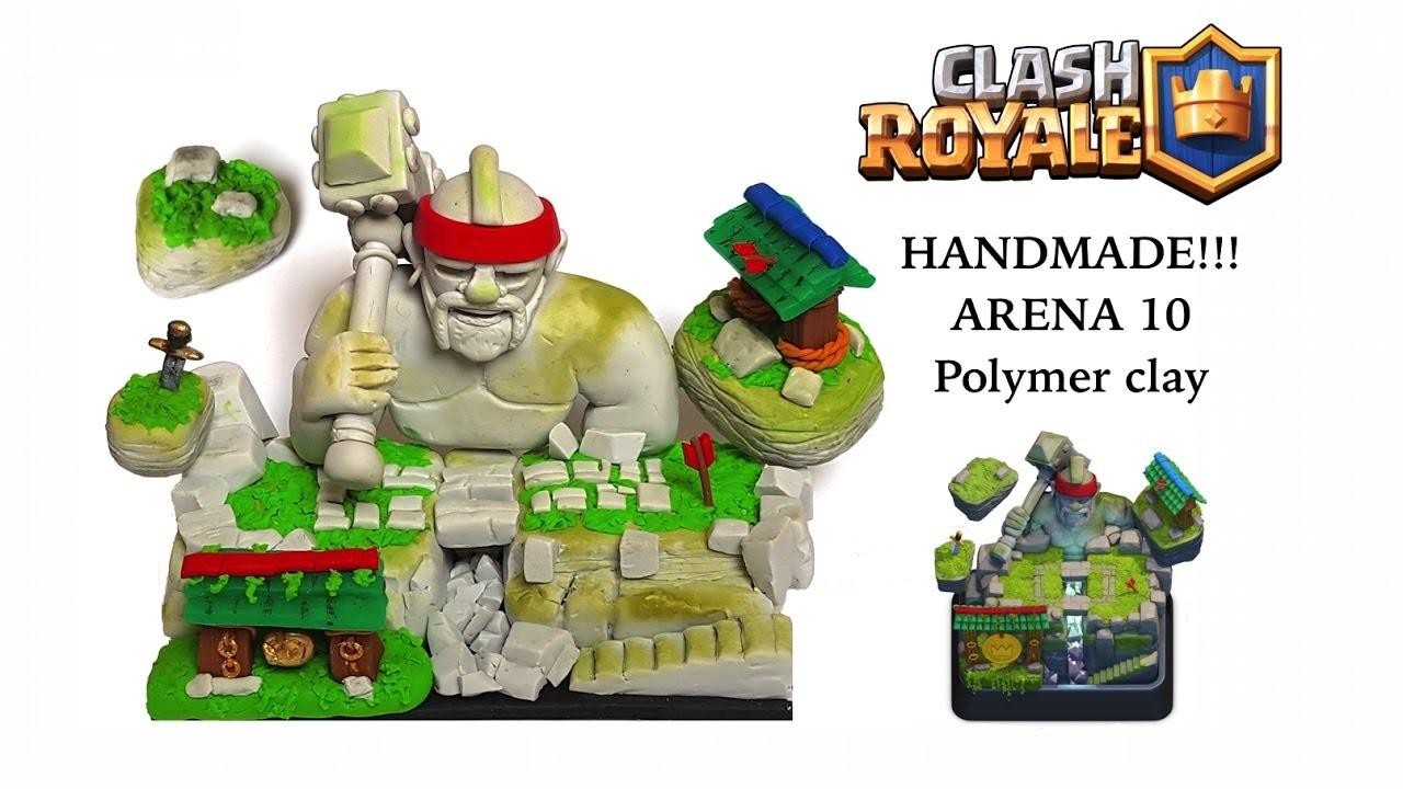 DIY Clash Royale Hog Mountain Arena - Arena 10 - Polymer clay tutorial