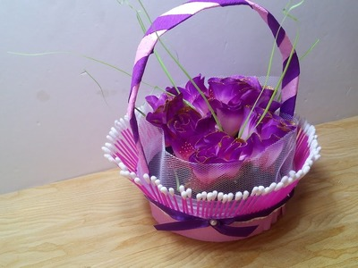DIY Crafts - How to Make a Decorative Basket out of simple Materials + Tutorial !