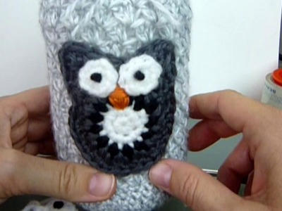 DIY Crochet Owl Applique. Video Tutorial