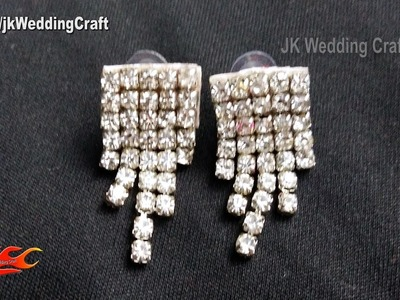 DIY Diamond Stud Earrings | How to make wedding jewelry | JK Wedding Craft 123
