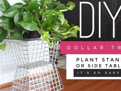 DIY | Dollar Tree Side Table | Plant Stand | Budget Friendly and Simple