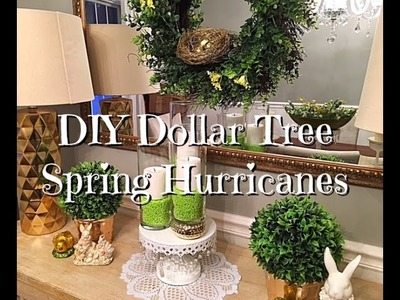 DIY Dollar Tree Spring Easter Hurricanes How-to