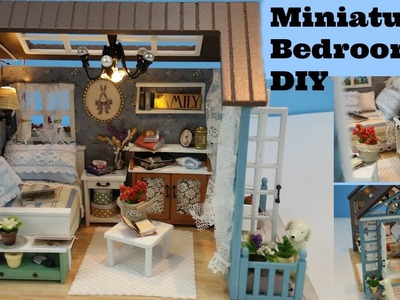 DIY Dollhouse Bedroom, Miniature bedroom, DIY miniature bedroom, cutter room projects,miniature room