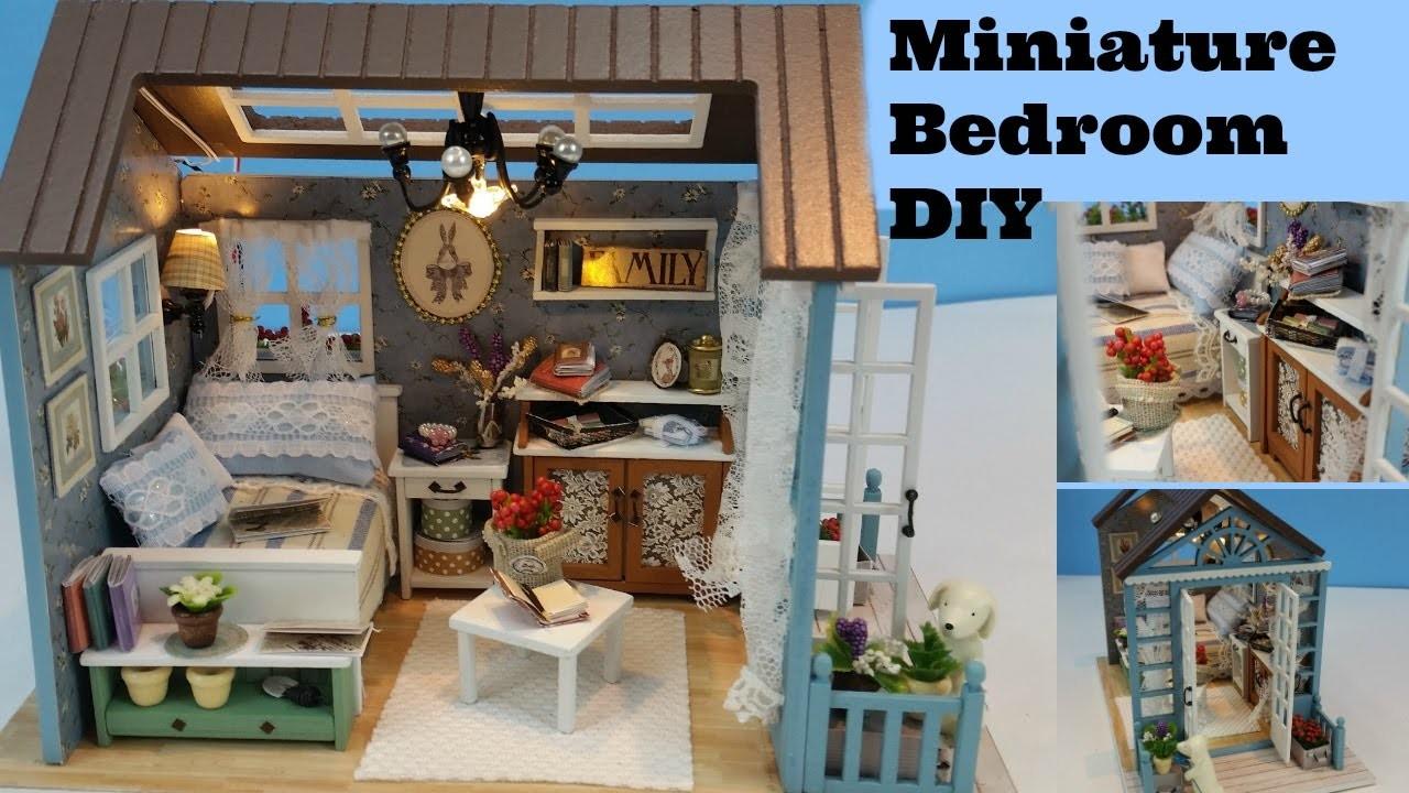 DIY Dollhouse Bedroom, Miniature bedroom, DIY miniature