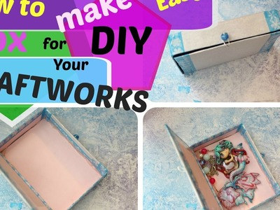 DIY EASY CARDBOARD BOX FOR GIFT CRAFT WORKS HOW TO MAKE - COME FARE SCATOLA