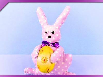 DIY Fabric bunny (ENG Subtitles) - Speed up #322
